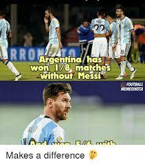 Argentina Memes - argentina has won 178 matches without messi o football memesinsta