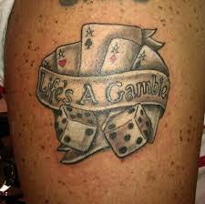 life u0027s a gamble cards tattoo tattoomagz