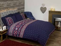 nordic snowflake duvet cover set king size beds bedding and
