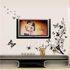 new butterfly flower removable home wall sticker diy art vinyl 664239256500