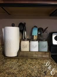 Kitchen Utensil Canister Half Gallon Utensil Holder Mason Jar Utensil Holder Mason