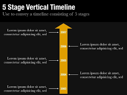 resume template vertical timeline for keynote and powerpoint