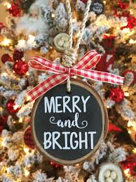 merry and bright ornament rustic ornament rustic