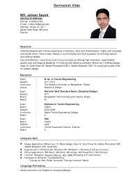 perfect job resume format a professional curriculum vitae examples