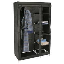 Schlafzimmerschrank Cabinet Kleiderschrank Stoffschrank 110x46x178cm Schwarz Real