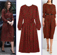 kate wears festive frock by vanessa seward for heads together