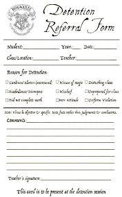 hogwarts detention slip blank white background edit for less ink