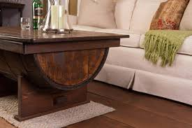 furniture wooden barrel coffee table for rustic living room
