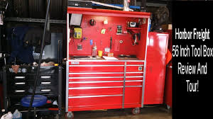 Tool Box Top Hutch Harbor Freight 56 Inch Tool Box 1 Year Review And Tour Youtube