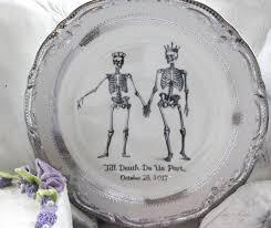 and groom plates customizable skeleton wedding china groom