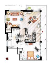 tv show apartment floor plans dexter friends and other tv show apartments inspire cool floor