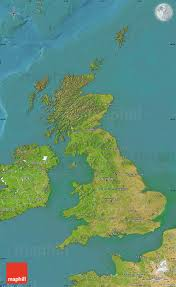 Map Of The United Kingdom Satellite Map Of United Kingdom