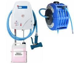 centrale de nettoyage cuisine centrale d hygiene avec enrouleur pvc ref lb04 c120 5 ep