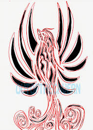 phoenix tribal tattoo sketch photo 3 real photo pictures