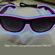 party sunglasses with lights 5 pcs lot led light el wire glasses fashion neon luminous party