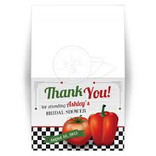 bridal shower thank you cards kitchen bridal shower thank you card retro italian tomato pepper
