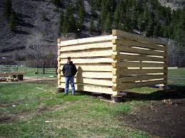 How To Build A Shed From Scratch by How To Build A Log Cabin With Dovetail Notches 7 Steps With