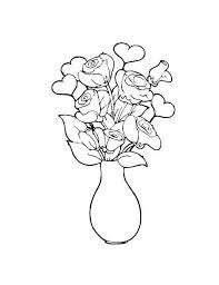 Vase Drawing Flower In The Vase Coloring Page Netart