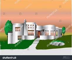 white adobe style house office building stock vector 2716156