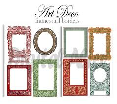 printable art deco borders art deco frames and borders digital download antique art