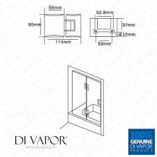 180 degree glass to glass shower door hinge chrome plated solid