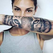 picture of of the tiger on the forearm
