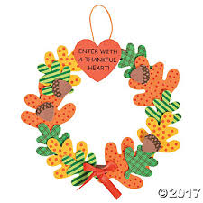 with a thankful wreath craft kit