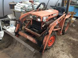kubota b7100 compact tractor 4wd with sl500 front end loader with