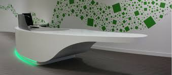 Corian Reception Desk We Are Limitless Limited Solid Surface Reception Desk