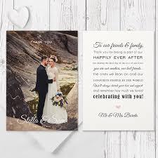wedding thank you cards modern wedding thank you photo card with free custom colour