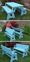 Diy Picnic Table Plans Free by Diy Foldable Picnic Table That Turns Into Benches And 13 Other