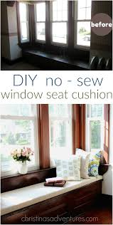 diy window seat cushion christinas adventures