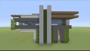 small simple modern house minecraft regarding small contemporary