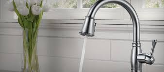 touch faucets for kitchen cassidy collection delta faucet