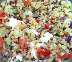 comment cuisiner le quinoa recettes salade composée quinoa boulgour déjeuner au bureau