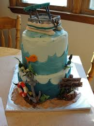 Pontoon Boat Design Ideas by Pontoon Boat Cake Lake Boating Fishing Anchor 2 Tier All Edible