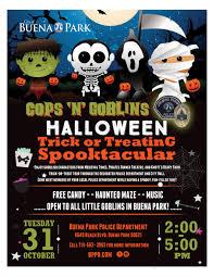 event city halloween city of buena park ca event calendar cops u0027n u0027 goblins
