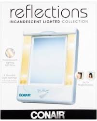 conair two sided makeup mirror with 4 light settings get the deal 41 off conair tm8lx3 2 sided makeup mirror with 4