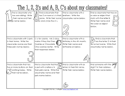 find a classmate classroom freebies the 1 2 3 s and a b c s