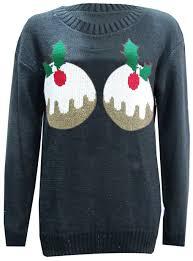 women pudding christmas jumper long sleeve knitted sweater uk