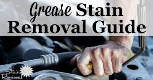 grease stain removal guide removing motor and grease