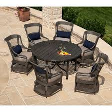 7pc Patio Dining Set La Z Boy Outdoor Juliette 7 Patio Dining Set With Premium