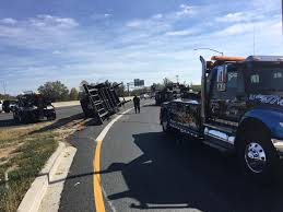 maryland state police call baltimore towing company overturned