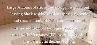 how to make oxygen from permanganate and hydrogen peroxide science experiments wonderhowto
