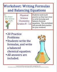 chemical formulas and balancing chemical equations by amy brown