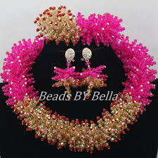 crystal choker necklace set images Latest design african gold jewelry set nigerian wedding jewelry jpg