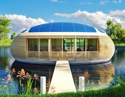 beautiful lake huron floating house by mos inhabitat green floating solar powered waternest eco home is nearly 100 recyclable