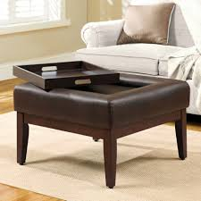 coffee table round leather coffee table ottoman modern tables