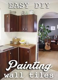 Kitchen Makeover Brisbane - our budget kitchen makeover how to paint splashback tiles house