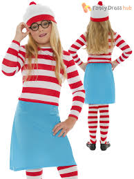 santa claus costume for toddlers childs where u0027s wally costume girls wenda fancy dress boys book